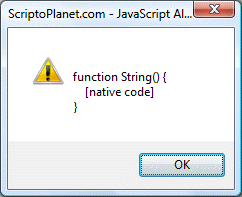 JavaScript string constructor property