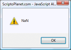 JavaScript Number NaN property