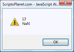 JavaScript parseInt() function with NaN returned value
