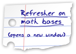 Refresher on math bases - opens a new window